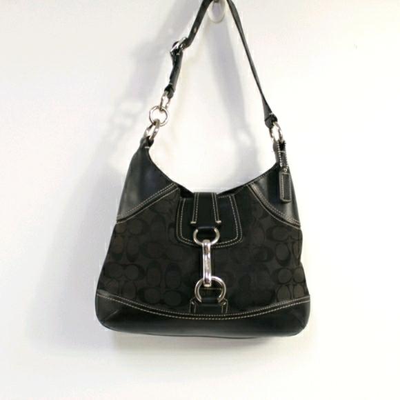 Coach small signature bridle hobo bag